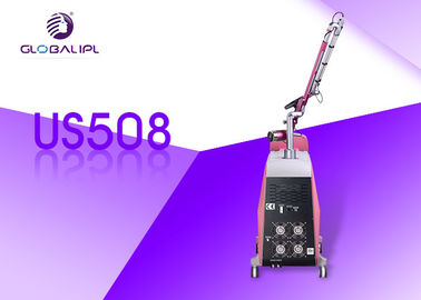 1064 / 532nm Q Beralih Nd Yag Laser Tattoo Removal Machine Gaya Portabel