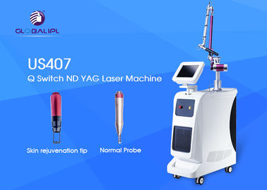 1064nm / 532nm Panjang Gelombang Q Beralih Laser Tattoo Removal Machine 1 - 10Hz